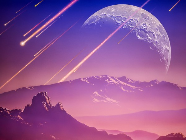 JOE TUCCIARRONE/SCIENCE PHOTO LIBRARYCORBIS The crash of meteors on early Earth likely generated hydrogen cyanide, which could have kick-started the production of biomolecules needed to make the first cells.