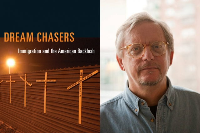"Cover of ""Dream Chasers"" (MIT Press) and author John Tirman"