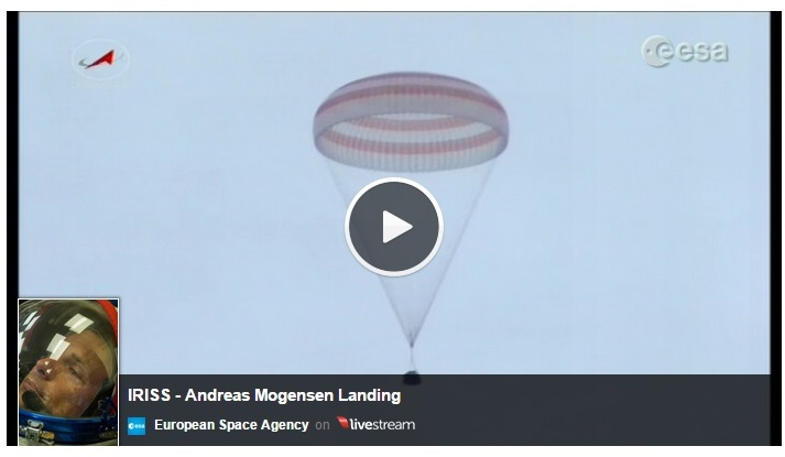 watch video of Soyuz TMA-16M landing
