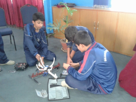 Student of grad 9 is constructing Drone IN KNHSS