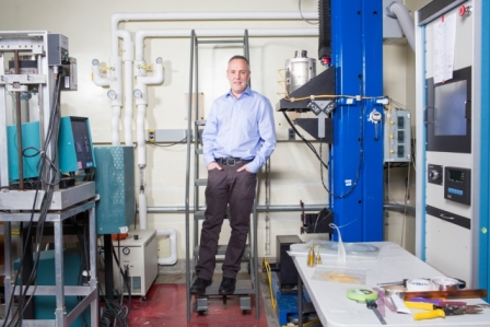Professor Yoel Fink, director of MIT's Research Laboratory of Electronics Photo: M. Scott Brauer